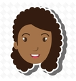 character woman young icon vector image vector image