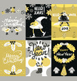 christmas posters and banners set vector image vector image