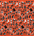 christmas seamless pattern with cozy and cute vector image