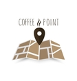 Coffee point navigation on the map vector image vector image