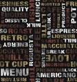 coffee text pattern vector image vector image