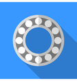 Colorful bearing icon in modern flat style with