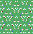 colorful pills seamless pattern isolated on green vector image vector image