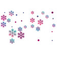 crystal snowflake and circle shapes vector image