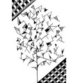 doodle tree image for coloring black isolated vector image