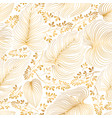 floral pattern with leaves and flowers in elegant vector image
