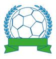 football ball emblem vector image vector image