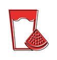 fresh watermelon juice icon vector image vector image