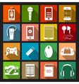Gadget Icons Flat vector image vector image