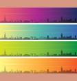 glasgow multiple color gradient skyline banner vector image vector image