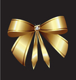 gold ribbon vector image vector image