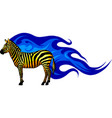 graphic of a standing zebra vector image