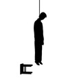hanged man silhouette vector image vector image