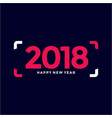 happy new year 2018 text design simple vector image vector image