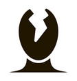 head split pain man silhouette headache vector image vector image