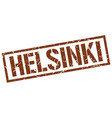 helsinki brown square stamp vector image vector image