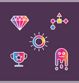 icons colorful crystal cup sun and vector image vector image