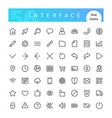 interface line icons set vector image vector image