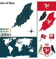 Isle of Man map world vector image