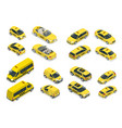 isometric flat high quality city service transport vector image
