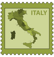 Italy map on stamp vector image vector image