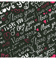 lettering love seamless vector image vector image