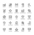 line icon of business and finance vector image vector image