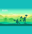martial arts of different vector image