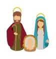 Mary joseph and jesus of holy night design vector image