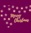 merry christmas winter holiday postcard with the vector image vector image