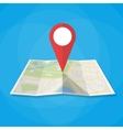 Navigation map icon vector image