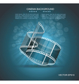 Old Cinema banner with stripe roll vector image vector image