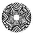 op art circle geometric pattern vector image vector image