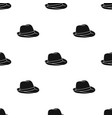 panama hat icon in black style isolated on white vector image vector image