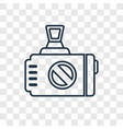 photographer concept linear icon isolated on vector image