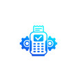 pos terminal payments icon vector image vector image