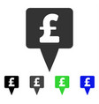 pound map pointer icon vector image