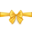 Realistic gold bow isolated on white background vector image