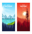 realistic pine forest vertical banners vector image
