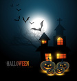 scary halloween background vector image vector image