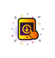 scroll down tablet pc icon scrolling screen sign vector image vector image