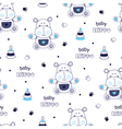 Seamless pattern with little hippo vector image