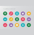 set of 15 editable business icons includes vector image