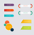 Set of colorful text box with steps trendy colors vector image vector image