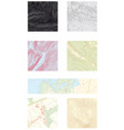 seven different abstract topographic maps vector image