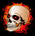 skull with glowing red eyes on a background of vector image vector image