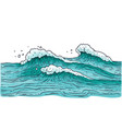 stormy sea water with small waves - ocean nature vector image vector image