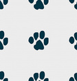 trace dogs icon sign Seamless pattern with vector image vector image
