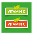 Vitamin C label set vector image vector image