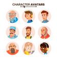 people characters avatars set cartoon flat vector image
